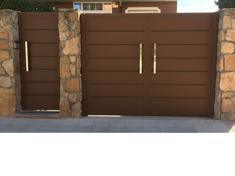 Puertas peatonales y de garaje talleres o ate - Automatismos para puertas de garaje ...