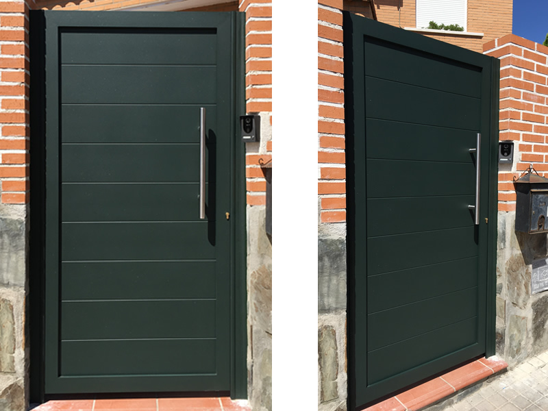 Puerta de aluminio soldado talleres o ate - Puerta balconera aluminio ...
