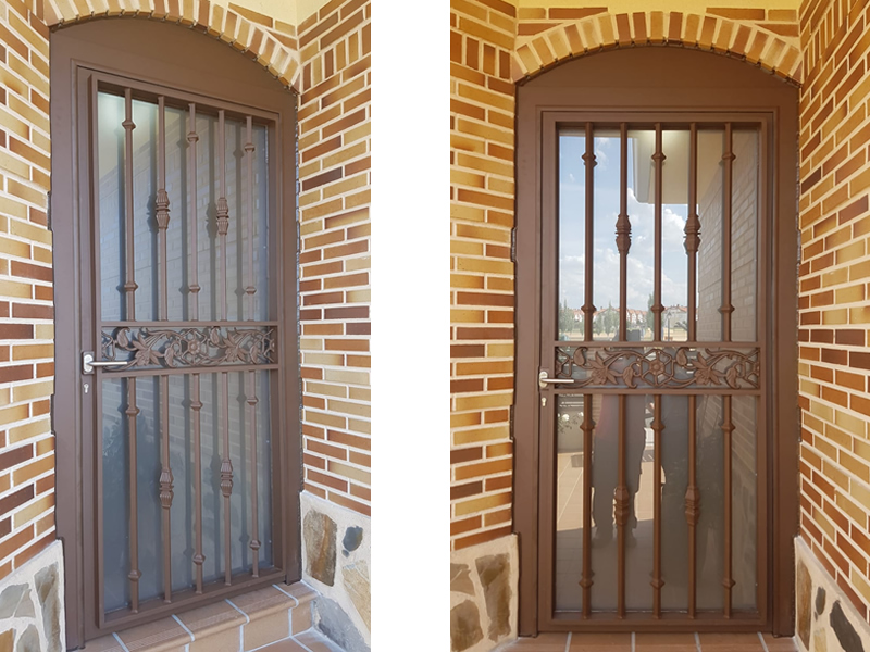Puerta_portal_aluminio_soldado_Madrid1