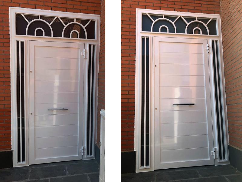 Puerta_portal_aluminio_soldado_Madrid