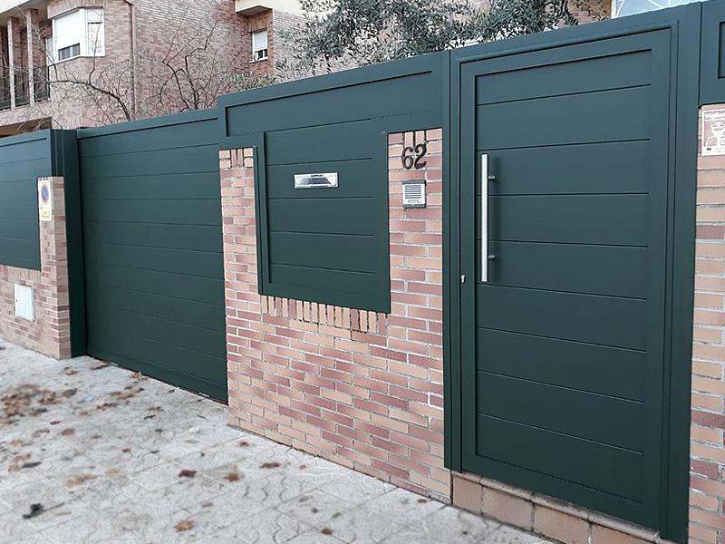 Cerramiento de vivienda en aluminio soldado en Valdemoro (Madrid)